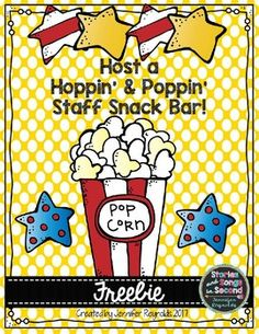 """Read Across America Week is not only the time for teachers to share their appreciation for books, but it is a great opportunity to share our appreciation for each other!What better way to celebrate all things Seuss than with a """"Hoppin' & Poppin' Staff Snack Bar"""" in your school lounge?!?! FREE"""