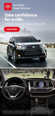 Certified Used Toyota Vehicles Toyota Usa, Used Toyota, Toyota Cars, Toyota Trucks, Ford Trucks, Big Trucks, Pickup Trucks, Toyota Highlander For Sale, Royce Car