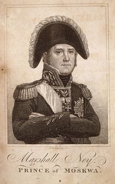 1816   Michel Ney ( 1769 - 1815 ), Prince of Moskwa.  French Napoleonic General and Marshal. Known as the Bravest of the Brave. After fighting for Napoleon at the Battle of Waterloo, he was condemned for high treason and shot by firing squad. From: Trial of Marshal Ney for high treason taken in short-hand at the time of trial. Originally published/produced in E. Cox & Son, London , 1816. via British Library