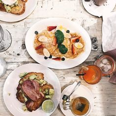 Sheltering from the rain with avocado toast and a side of pancakes  @billsrestaurant