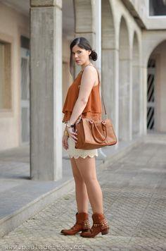 Boho style with skirt
