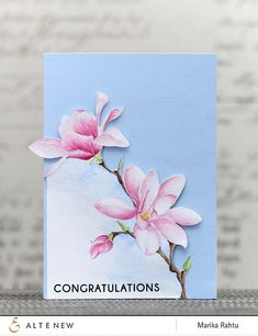 Video how to. Beautiful stamp: Magnolias for Her.