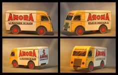 Some cool vintage cut and paste french promotional vehicles (and more) you can download and print. https://www.flickr.com/…/albums/7215765320…/with/8082443397/ http://www.papercraftsquare.com/flambo-delivery-truck-papercraft.html