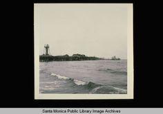 Crumbling Pacific Ocean Park Pier, Santa Monica, Calif., (1974)