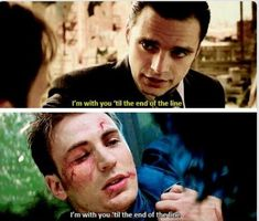 What Steve was willing to go through to get his best friend back is amazing he didn't believe that Bucky would kill him but he was willing to die at the hands of his best friend ^_^ -Sasha