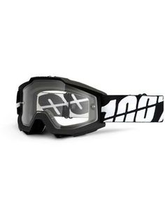 36e81256c7989 100 Percent Black Tornado-Clear Dual Lens Accuri Sand-Extra Clear Lens Mx  Goggle