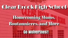 Clear Brook High School Homecoming Mums, Boutonnieres | Football Mums fo...