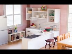Little Twin Stars Dollhouse Miniature | Kawaii Pastel Doll Room with Re-ments - YouTube