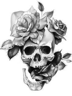 calaveras con rosas