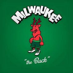 Cartoon Character Logo: Milwaukee Bucks