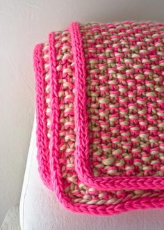 Eleventh Hour Marled Blanket - knitting pattern