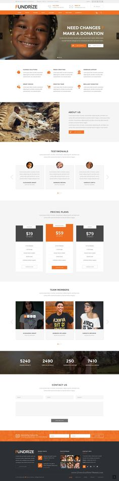 Fundrize – PSD Template can be used for any type of #Charity, Donation, Fundraising #websites. It has 3 Homepage Versions and 16 PSD Inner Pages. #psdtheme