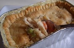 Make Ahead Individual chicken pot pies for a quick lunch at the office
