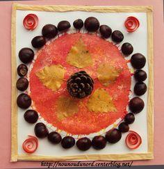 décoration de table avec la récolte des marrons de Lison