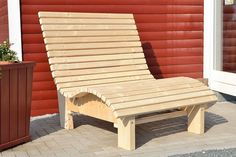 Deckchair Relax lounger Sunlounger made of wood FOR garden terrace balcony - Balkon Garten - Balcony Furniture Design Yard Furniture, Outside Furniture, Diy Outdoor Furniture, Pallet Furniture, Furniture Plans, Furniture Making, Cool Furniture, Outdoor Chairs, Furniture Design