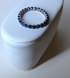Sapphire Eternity Band by SoCalEndlessJewels on Etsy