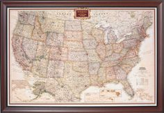 Framed United States Map want want want want want want want