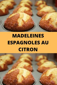 Spanish lemon madeleines In Spain, it is customary to eat made . Crockpot Recipes Cheap, Gourmet Recipes, Pound Cake Recipes, Cookie Recipes, Mexican Dessert Recipes, Pancakes Easy, Beignets, Cheap Meals, Healthy Baking