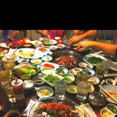 The beauty of Korean food!