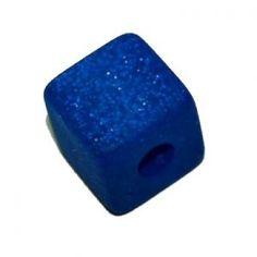 Cube Polaris pailleté 20x20x20 Bleu électrique
