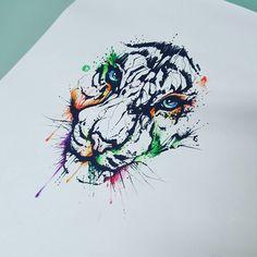 #lella #lellaink #art #passion #draw #drawing #tattoo #tattoed #tatuaggio #tatuaje #tattoodesign #ink #inked #inkpassion #milanotattoo #italiantattoo #animal #animaltattoo #tiger #tigertattoo #watercolor #watercolortattoo #colorful