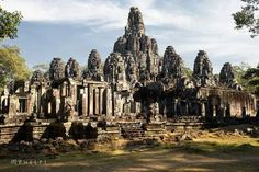 Bayon temples in Angkor Thom, Siem Reap, Cambodia