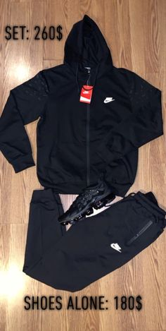 Nike on Mercari Dope Outfits For Guys, Swag Outfits Men, Stylish Mens Outfits, Cool Outfits, Nike Jogging Suits, Nike Sweat Suits, Nike Outfits, Sporty Outfits, Nike Looks