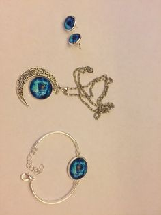 Galaxy Jewelry Set by SisterCraftings on Etsy