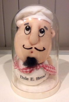 """Vintage Russ Berrie """"Dale E. Bread"""" Preserved Personalities Stocking Doll, Russ Collectible Stuffed Dolls, Stocking Dolls, Cook/Baker Gift by Lalecreations on Etsy Vintage Oddities, Gifts For A Baker, Stuffed Dolls, Creepy Dolls, Wall Pockets, Wall Hangings, Snow Globes, Vases, Berry"""