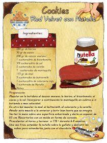 Tartas, Galletas Decoradas y Cupcakes: Cookies Red Velvet con Nutella