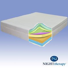 night therapy 13u2033 therapeutic pillow top pressure relief memory foam mattress u2014 cal king