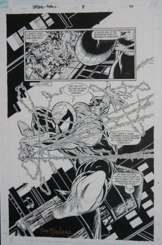 """One Of My Most Influential Comic Book Artists: Todd McFarlane """"Spiderman totally reset the horizon in comic book art. Comic Book Pages, Comic Book Artists, Comic Artist, Comic Books Art, Comics Spiderman, Star Comics, Todd Mcfarlane Spiderman, Spider Verse, Famous Superheroes"""