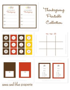 anna and blue paperie: {Free Printable} Additional Celebrate Thanksgiving Printables