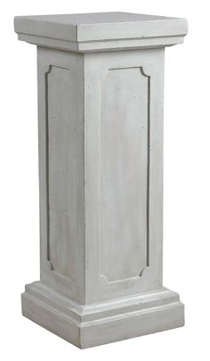 "Kenroy Square Column Pedestal-Garden $113.39 List Price: $141.94 Free Shipping! Reminiscent of marble and aged plaster, this classical square pedestal leans to the traditional but has universal appeal. Indoors or out, this decorative ornament is sure to be a welcome addition to any decor. Manufactured By     kenroyhome.com    Sold By     Beyond Stores    Size/Weight     W 12"" / D 12"" / H 30"" / 25.7 lb.  Style     Transitional"