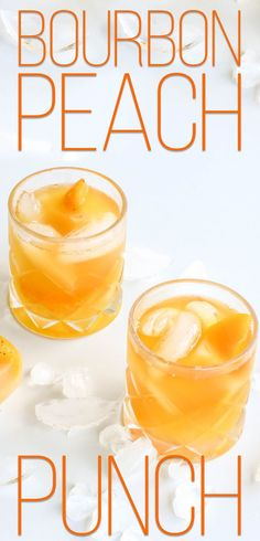Our Bourbon Peach Punch is the perfect cocktail to beat the summer heat. Get the recipe now! Brunch Drinks, Cocktail Desserts, Best Cocktail Recipes, Yummy Drinks, Cocktail Drinks, Crockpot Drinks, Punch Recipes, Drink Recipes