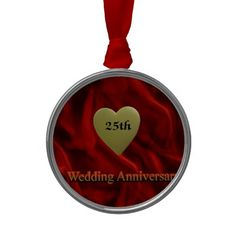1000+ images about 25Th Wedding Anniversary Ornaments on ...