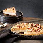 Pumpkin Caramel Ice Cream Pie Recipe | MyRecipes.com. Use coconut sugar, coconut or nut cream, nuts, dates, soy/almond/coconut ice cream. Roast raw pumpkin seeds (optional).