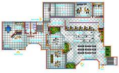 Bank office building architecture l Building Design Plan, Building Layout, Plan Design, Architectural Scale, Architectural Floor Plans, Office Floor Plan, Floor Plan Layout, Office Building Architecture, Architecture Plan