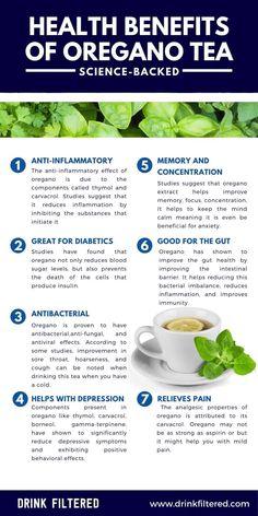 Weight Loss Tea, Weight Loss Drinks, Weight Loss Smoothies, Lose Weight, Diet And Nutrition, Health Diet, Health And Wellness, Green Tea Benefits, Oregano Tea Benefits