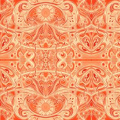 Orange Zest Nouveau fabric by edsel2084 on Spoonflower - custom fabric