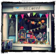 September 2014 ReLoved Boutique, Newark window display - www.relovedboutique.co.uk