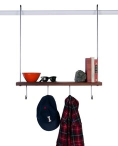 Carlysle Manufacturing Coat Rack and Shelf, Remodelista Picture rail shelving