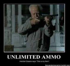 Unlimited Ammo! #TheWalkingDead