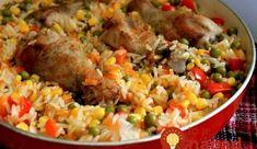 Obed z jednej panvice: Kuracie stehná s ryžou a zeleninou