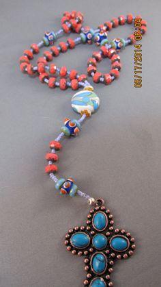 beautiful handmade custom rosary