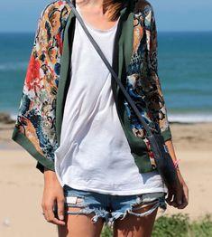 Chaqueta estilo kimono