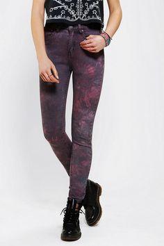 Ziggy Rib Warmers High-Rise Jean - Tie-Dye #UrbanOutfitters