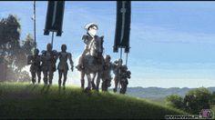 gifs that will make you lol if you are a fan of the anime Shingeki no Kyojin! XD