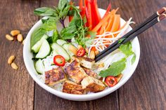 vietnamese noodle salad with grilled tofu    simple healthy kitchen
