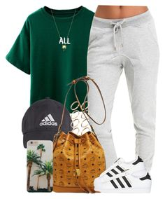 """All."" by livelifefreelyy ❤ liked on Polyvore featuring ASOS, MCM, adidas Originals and Joolz by Martha Calvo"